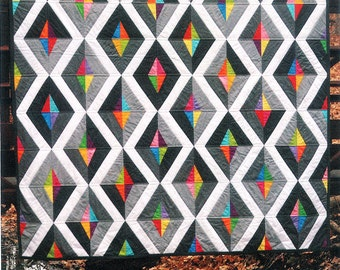 Quilt Pattern - ''Prism'' Foundation Paper Pieced Quilt Paper Sewing Pattern by Fresh Lemons
