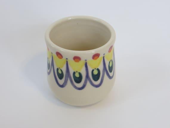 Coffee mug handleless large ceramic cup with by turningtruestudios - Handleless coffee mugs ...