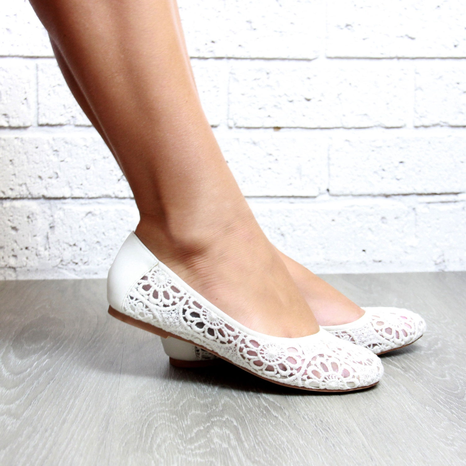 Girls WHITE LACE Ballet Flats with satin bow - For Flower Girls, Baptism and Christening Shoes kaileep. 5 out of 5 stars See similar items + More like this. Women Wedding Lace Shoes, Bridesmaid Shoes - WHITE LACE Pointy Toe ballet flats with scattered rhinestones - Bridal shoes kaileep. 5 out of 5 stars (2,) $ Favorite.