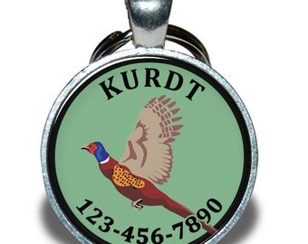 Pet ID Tag - Pheasant - Dog tag, Cat Tag, Pet Tag