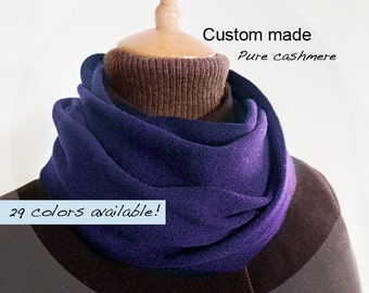 Seamless pure cashmere cowl / Infinity scarf / Men scarf / Women scarf / Men cowl / Women cowl / Scarf / Cowl / Pure cashmere / Custom made
