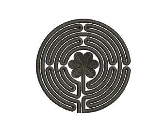 Machine Embroidery Design Instant Download - Chartres Labyrinth 1 (4 Bend)