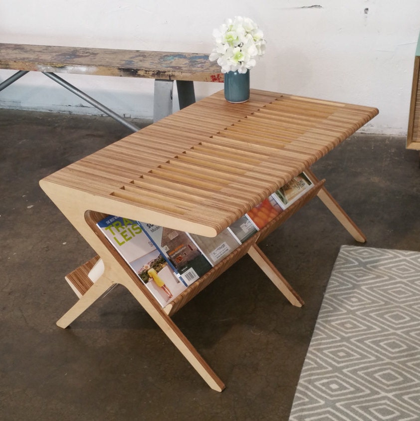 Mid Century Coffee Table Shown In Baltic Birch