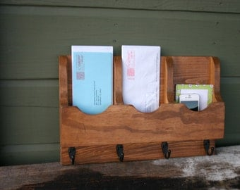 Mail Organizer-Mail Holder-Letter Holder-Organizer-Mail and Key Holder-Wall Mounted Key Rack-Mail Rack-Mail Sorter-Triple