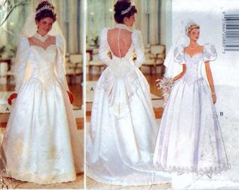 Misses' Wedding Dress - Size 8. 10. 12 - UNCUT Butterick 3839 Pattern