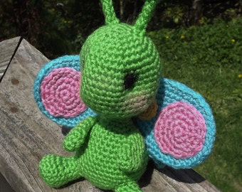 Baby Butterfly Amigurumi Crochet Pattern. PDF only, Doll not included