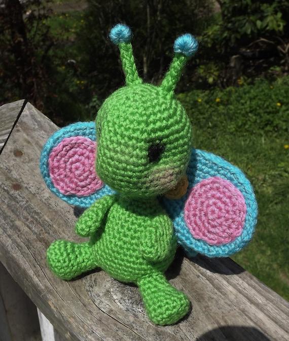 Amigurumi Chicken Pattern Free : Baby Butterfly Amigurumi Crochet Pattern. PDF only Doll not