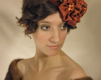 Rust Pillbox Hat