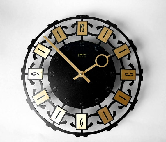 vintage german mid century starburst clock