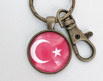 Turkey Flag Key Chain Bag Charm KC115