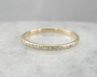 Vintage Diamond Wedding Band Or Stacking Ring QXT1QV-R