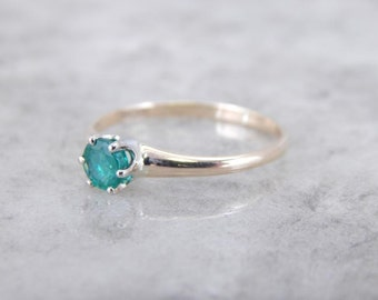 Luscious Emerald And Pretty Gold Solitaire Mounting FFP8NQ-P