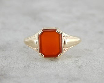 Vintage Carnelian And Gold Ring For Him Or Her XXD5QF-N