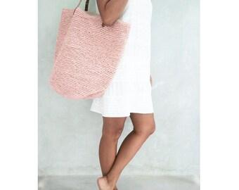 Straw Beach Bag,Straw Bag, Pink Bag