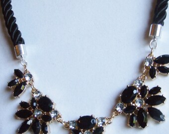 Black statement necklace 0337NK