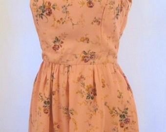 Pink Floral open back dress