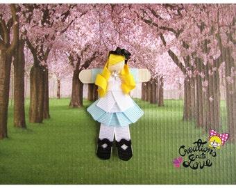 Alice in Wonderland Inspired Ribbon Sculpture Hair Clip. Alice in Wonderland Hair Clip.