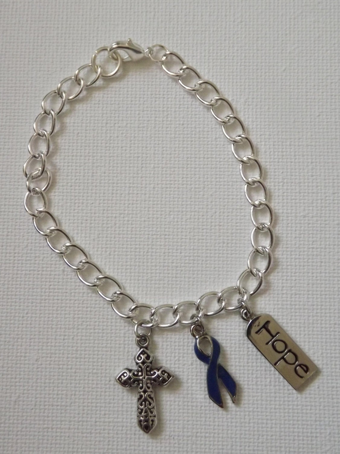 colon cancer awareness charm bracelet by jewelsofhopebyjess