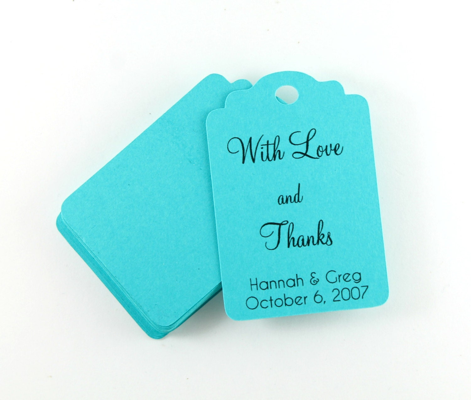 Wedding Gift Tags Set Of 20 Personalized Teal Wedding Favor