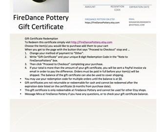 Gift Certificate for 25 dollars