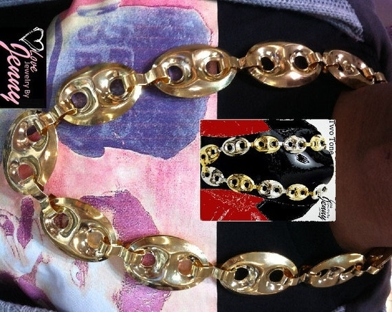 Gold Gucci Link Chain Gucci Link Mariner Chain