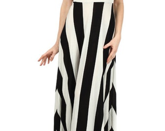 Stripe Maxi Dress, Strapless Maxi Dress, Strapless Long Dress, Black White Maxi, Strapless Summer Dress, Strapless Boho,Strapless Pixie Maxi
