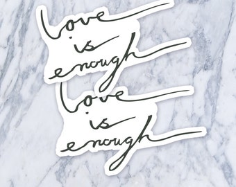 Love is Enough Script Calligraphy Cursive Fake Temporary Tattoos