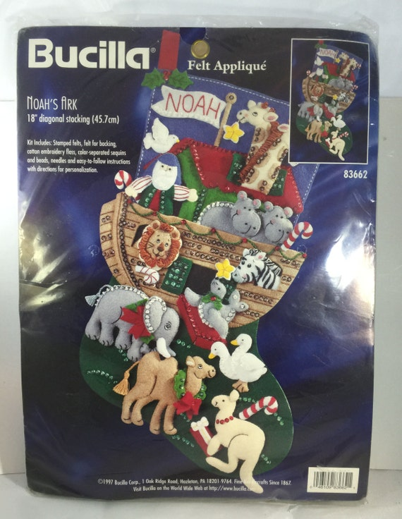 Sale Bucilla Felt Christmas Stocking Kit Noahs By