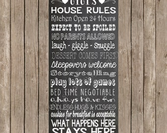 Custom Grandparents' House Rules Printable