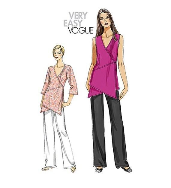 Vogue Tunic Pattern Vogue Pants Pattern Asymmetrical Wrap
