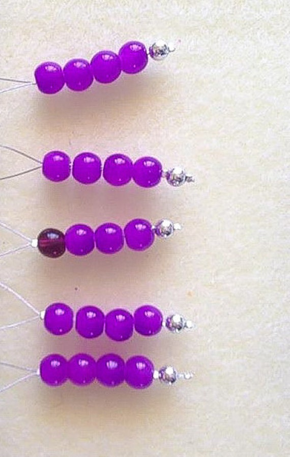 Knitting Markers Beads : Glass bead stitch markers for knitting snagless by