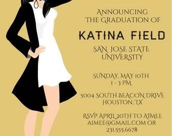 Cowgirl Graduation Invitations | Country Western Graduation Announcements | Grad Invites