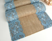Teal Lace Table Runner  Wedding Table runner intricate lace design Table decor , Handmade in the USA