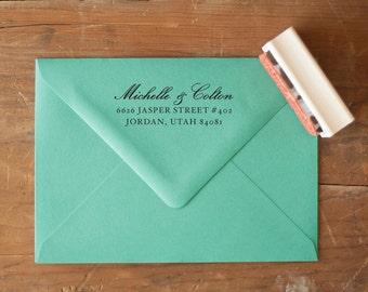 Custom Return Address Stamp, Wedding Invitation Stamp, Rustic Wedding Stamp,  Wedding Stationery,