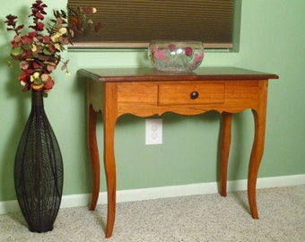 Louisiana Creole Table in Cherry and Walnut - hall sofa occasional console entry way cabriole legs