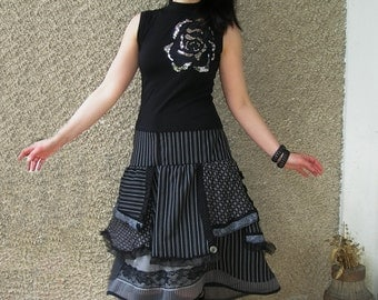 L-XL, Urban Fairy Skirt, eco-friendly handmade clothing by EcoClo