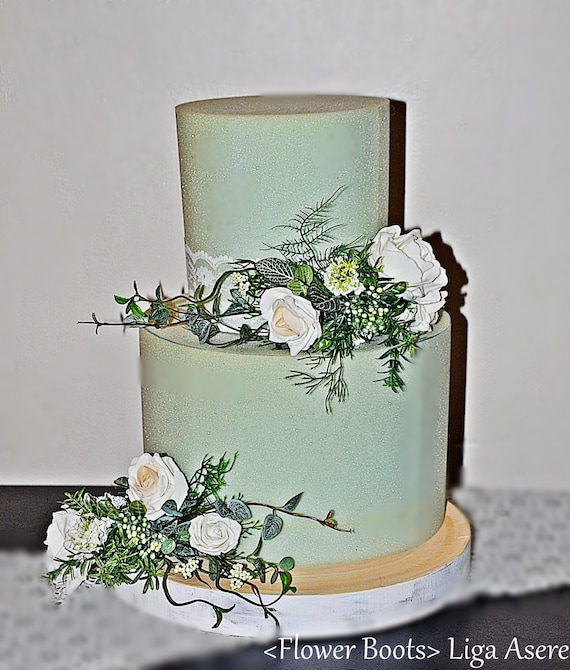rustic wedding cake topper uk champane cake topper foam flowers rustic wedding roses 19589