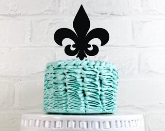 Fleur De Lis Cake Topper