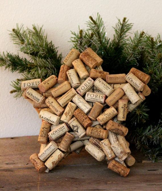 Star de bouchons en li ge bouchons en li ge arbre topper - Bouchon de liege decoration ...