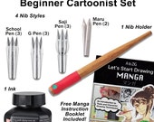 Zig Cartoonist Manga Pen and Ink Beginner Cartoonist Set