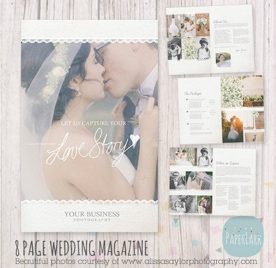 wedding photo magazine template