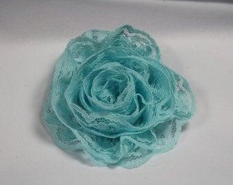 Light Blue Lace Hair Flower
