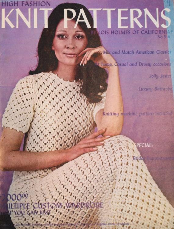 High Fashion Knitting : Vintage high fashion knit patterns by lois baldyhillvintage