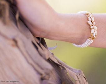 wedding Bracelet , Wedding Jewelry swarovski Bridal Bracelet  Bridal Bracelet Wedding Jewelry , vintage wedding bracelet , vintage , wedding