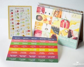 Bump to Baby Pregnancy Journal, Pregnancy Calendar, Pregnancy Countdown, Pregnancy Art