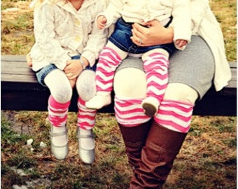 Chevron Baby to Big Girl Leg Warmers w/ Chiffon Ruffles!!!