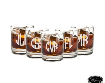 FIVE Groomsmen Glasses, SHIPS FAST, Personalized Groomsmen Glasses, Custom Groomsmen Glasses, Etched Groomsmen Glasses, Groomsmen Gift
