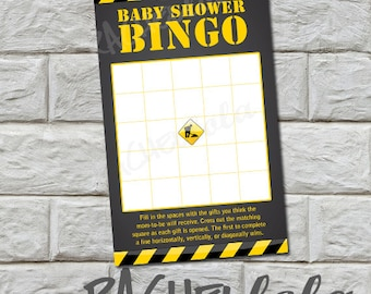 Construction Baby Shower Bingo game, dump truck, for boys, baby shower activity, opening gift, printable template, instant digital download