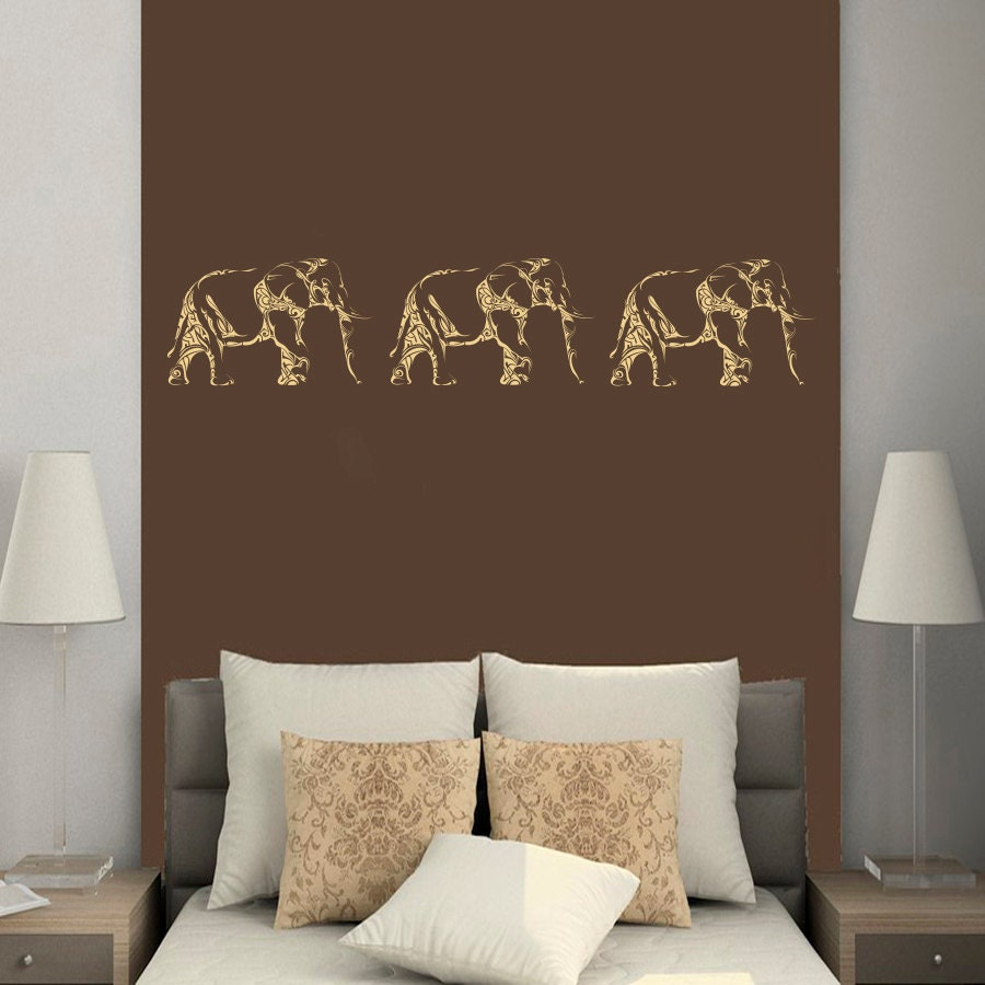 Wall decals animals elephant indian elephants by bestdecals - Elephant decor for living room ...
