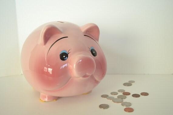 Pink Piggy Bank Large Ceramic Bank